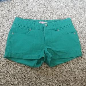 Candie's Teal Denim Shorts